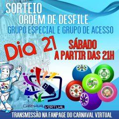 Conheça a ordem de desfiles do Carnaval Virtual 2018